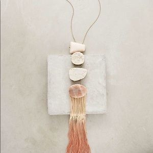 {Anthro} Iona Fringed Pendant Necklace